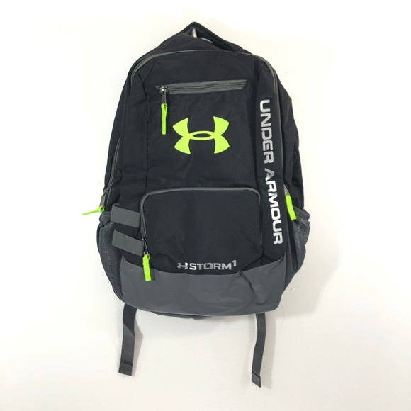 bbe45fc24dfd  Under Armour  Black and Neon Green Backpack. M 5b85e3700cb5aa3a16f317c0
